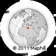 Outline Map of Zliten, rectangular outline