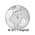 """Outline Map of the Area around 32° 8' 5"""" N, 30° 40' 29"""" E, rectangular outline"""