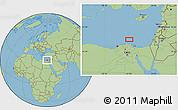 "Savanna Style Location Map of the area around 32°8'5""N,31°31'29""E"