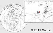 """Blank Location Map of the area around 32°8'5""""N,32°22'30""""E"""
