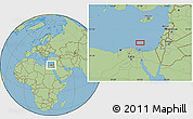 "Savanna Style Location Map of the area around 32°8'5""N,32°22'30""E"