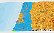 Political 3D Map of Or Yehuda