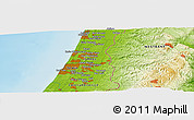 Physical Panoramic Map of Yad Rambam