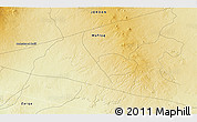 """Physical 3D Map of the area around 32°8'5""""N,37°28'30""""E"""