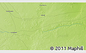"""Physical 3D Map of the area around 32°8'5""""N,42°34'30""""E"""
