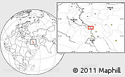 """Blank Location Map of the area around 32°8'5""""N,47°40'29""""E"""