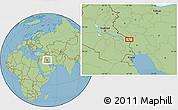 "Savanna Style Location Map of the area around 32°8'5""N,47°40'29""E"