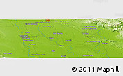 "Physical Panoramic Map of the area around 32° 8' 5"" N, 48° 31' 29"" E"
