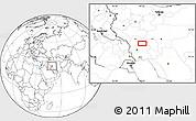 Blank Location Map of Shahrak-e Abūzār