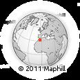 Outline Map of Igourramene, rectangular outline
