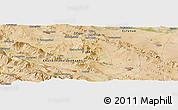 Satellite Panoramic Map of Shahr-e Kord