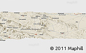 Shaded Relief Panoramic Map of Shahr-e Kord