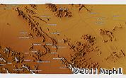 Physical 3D Map of Shahrezā