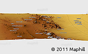 Physical Panoramic Map of Ḩasanābād