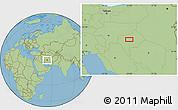 Savanna Style Location Map of Meymūneh