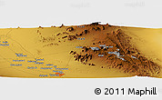 Physical Panoramic Map of Dasht Deh