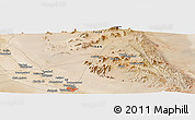 Satellite Panoramic Map of Ashkez̄ar