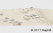 Shaded Relief Panoramic Map of Dasht Deh