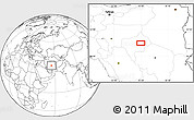 """Blank Location Map of the area around 32°8'5""""N,55°19'30""""E"""