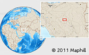 """Shaded Relief Location Map of the area around 32°8'5""""N,55°19'30""""E"""
