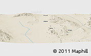 "Shaded Relief Panoramic Map of the area around 32° 8' 5"" N, 55° 19' 30"" E"