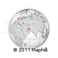 """Outline Map of the Area around 32° 8' 5"""" N, 57° 52' 30"""" E, rectangular outline"""