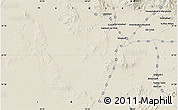 """Shaded Relief Map of the area around 32°8'5""""N,58°43'30""""E"""