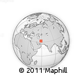 """Outline Map of the Area around 32° 8' 5"""" N, 58° 43' 30"""" E, rectangular outline"""