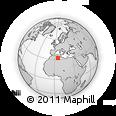 Outline Map of N'Goussa, rectangular outline