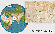 """Satellite Location Map of the area around 32°8'5""""N,62°7'30""""E"""