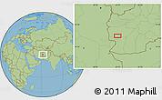 "Savanna Style Location Map of the area around 32°8'5""N,62°7'30""E"