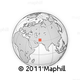 Outline Map of Chāh-e Kerteh, rectangular outline