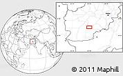 Blank Location Map of `Abd ol Vāhed