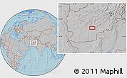 Gray Location Map of `Abd ol Vāhed, hill shading
