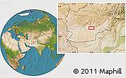 Satellite Location Map of `Abd ol Vāhed