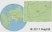 "Savanna Style Location Map of the area around 32°8'5""N,65°31'30""E"