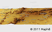 Physical Panoramic Map of Chaman