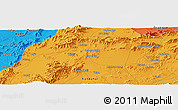 Political Panoramic Map of Chaman