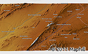 Physical 3D Map of Qalāt