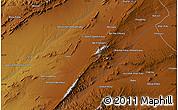 Physical Map of Qalāt