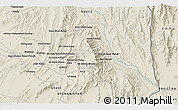 Shaded Relief 3D Map of Ākhvondzādeh Kanḏwālah