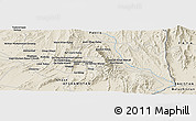 Shaded Relief Panoramic Map of Bāghgay