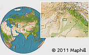 """Satellite Location Map of the area around 32°8'5""""N,71°28'29""""E"""