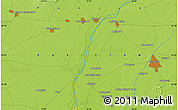 """Physical Map of the area around 32°8'5""""N,72°19'29""""E"""