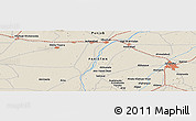 Shaded Relief Panoramic Map of Sargodha