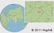 "Savanna Style Location Map of the area around 32°8'5""N,73°10'30""E"