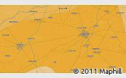 Political 3D Map of Gujrānwāla