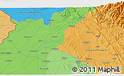 Political 3D Map of Pathānkot