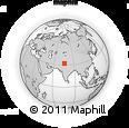 Outline Map of Pathānkot, rectangular outline