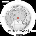 Outline Map of Biara, rectangular outline